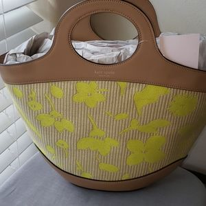 NWT Kate Spade summerston small straw tote bag
